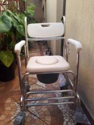 Cadeira de banho e higiênica em alumínio