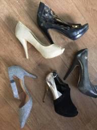 Sapatos e roupas  semi novas