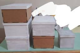 Kit 20 peças de Mdf caixa, quadros, porta chaves etc