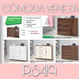 Cômoda Veneza cômoda Veneza cômoda Veneza cômoda Veneza 4 gavetas e 1 porta cômoda snnsnsn