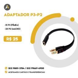 Cabo Adaptador P3-P2