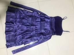 Vestido de festa de Cetim.