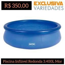 Piscina Inflável Redonda 3.400 Litros Mor