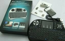 Mini teclado led pc tv smart tv box