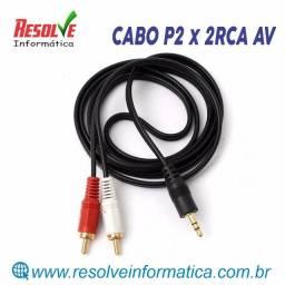 Cabo P2 x 2RCA