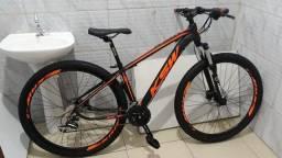 bike aro 29 ksw, 27v shimano, freio hidráulico