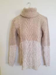 Blusa de lã Inverno Quentinha Com gola alta