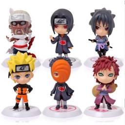Bonecos Colecionaveis Naruto 6 Peças