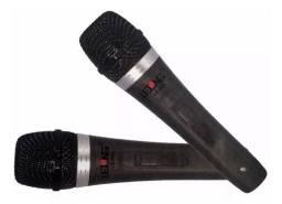 Microfone Duplo Lelong profissional com fio