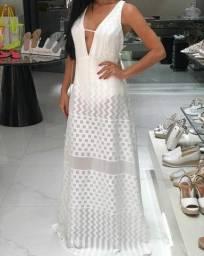 Vestido longo branco COLCCI