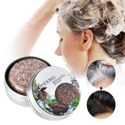 shampoo escurecedor Natural de cabelo Shouwu  Shampoo Soap