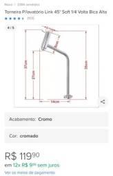 Torneira Lavatório Link Soft 1/4 Volta Bica Alta