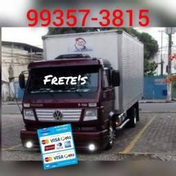 Frete bau caminhão cargas pesadas e leve baú limpo