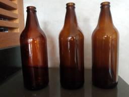 Garrafas para cerveja artesanal usadas e limpas
