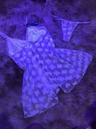 Lingerie com vestido de tule