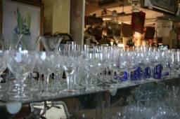 Taças de Cristal a partir de R$20 - Mercado das Pulgas