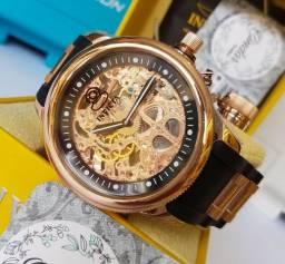 Invicta 1090 Russian Diver banhado à ouro rosa