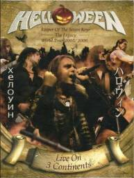 DVD e Cd Helloween Live in 3 Continents