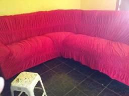 Capa de sofá vermelha