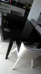 Mesa rockel c/seis cadeiras