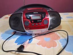 Som portátil Philco NÃO PEGA O TOCA CD, mas pega o rádio