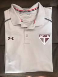 Camisa Camisa Polo Under Armour São Paulo F.C. 2017/18 - Cinza e vinho