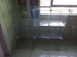 Gôndola de vidro L 103cm X A 97cm X P 32cm