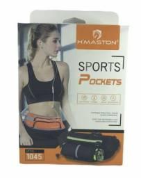 Pochete Impermeável Sports Pocket Com Porta Garrafa H'maston 1045