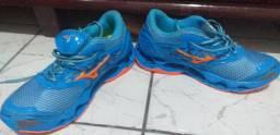 Tenis Mizuno pro 9 tamanho 38 azul cm laranja
