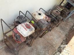 Sucata de 6 motores a gasolina 5.5 HP mangote e bombas