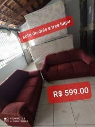 Conjunto de sofa dois e tres lugares direto da fabrica