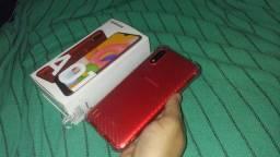 Samsung A01 novo com caixa e nota Fiscal *73 zap