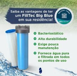 Filtro Big Blue - Vazão de até 6m³/h - Água tratada para toda casa -