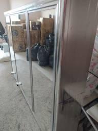 Espelho banheiro com armário 3 portas com espelho