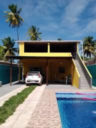 Casa de piscina 300 diaria 3 km da praia