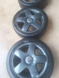 Roda 15 dois pneu 195 /55 2 195 45