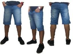Bermuda jeans com lycra nova