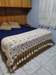 Manta/peseira para cama - crochê