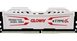 16 gb de memoria ram ddr4 gloway gamer 2666 mhz 12x no cartao