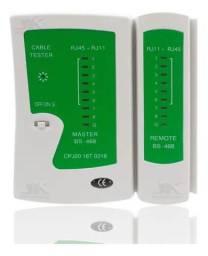 Testador de cabos de rede e telefônico