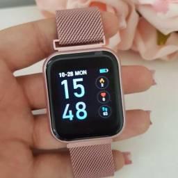 Relógio Smartwatch P70 Rose (Duas pulseiras)