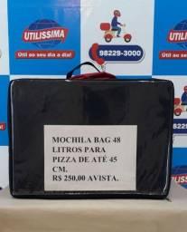 Mochila bag 48 litros para pizza de até 45 cm