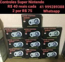 Controle Super Nintendo (R$ 40 reais cada Ou 2 R$ 75)