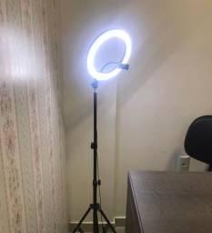 Ring Light com tripé e suporte para celular
