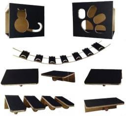 Kit play de paredes para gatos com 11 peças