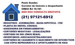Despachante Imobiliário e Documentalista creci RJ 19.161