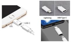 Adaptador Lightning para USB-C compatível iPhone 11, X, 8, 7, 6, 5