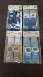 Kit 8 Pares Meias Pimpolho Recém Nascido Azul