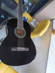 violão novo com capa