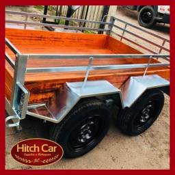 2 Eixos > Carretinha trucada com 1.20 x 2m c/ ótima capacidade de carga // Hitch Car